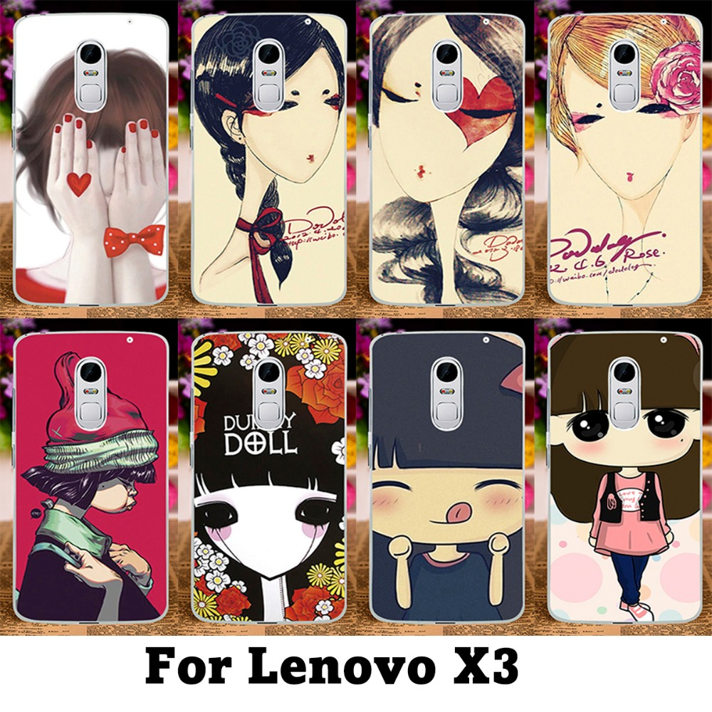 Colorful Puppet Doll Cute Case For Lenovo Lemon X3 C50 4G LTE 5 5inch Lovely Ghost