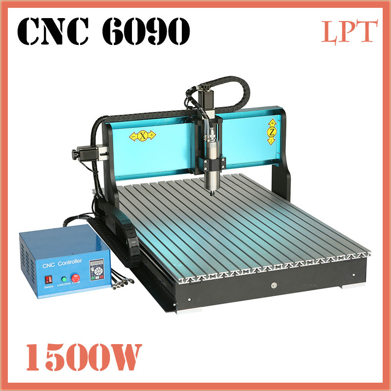 CNC6090 Engraving Wood Machine 3 Axis 1500W CNC Router Parallel Port High Power Spindle Motor Stone Machinery cnc 5axis a aixs rotary axis t chuck type for cnc router cnc milling machine best quality