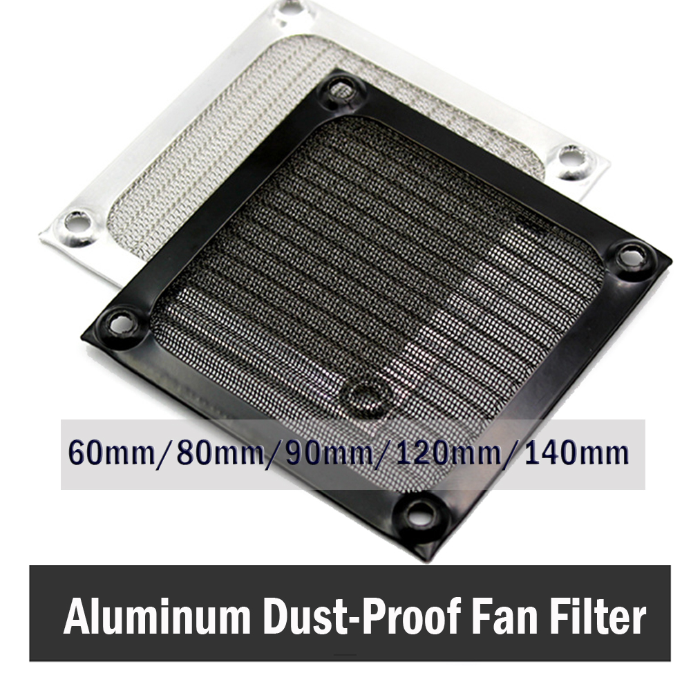 Gdstime 140mm Dustproof Poeira Filtro Fan Grill Guarda de Malha de Alumínio Para O CASO PC 14 cm