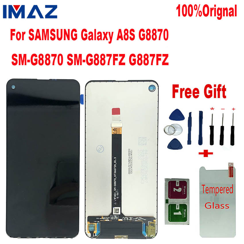 IMAZ Orignal LCD For <font><b>Samsung</b></font> Galaxy <font><b>A8S</b></font> G8870 SM-G8870 SM-G887FZ LCD <font><b>Display</b></font> Touch <font><b>Screen</b></font> Digitizer Assembly For A9 PRO 2019 LCD image