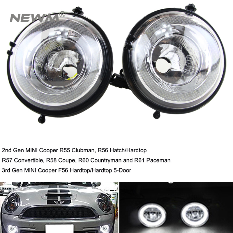 Free Shipping LED Fog Lamp Daytime Running Lights DRL Front Bumper Position Light case for MINI R55 R56 R57 R58 R59 R60 for opel astra h gtc 2005 15 h11 wiring harness sockets wire connector switch 2 fog lights drl front bumper 5d lens led lamp
