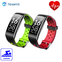 Teamyo IP68 Waterproof Sport Smart Fitness Bracelet Heart Rate Monitor Support Multiple Motion Mode Running Swimming