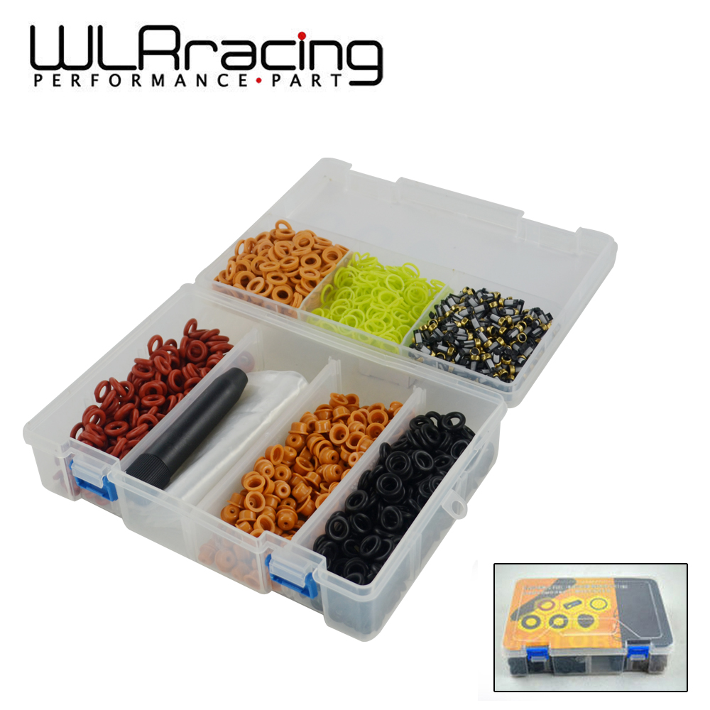 WLR RACING - Universal type200PCS fuel injector repair kits ,200 pieces/box with FKM VITON O-RING WLR4489