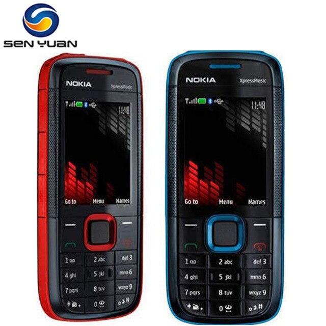 Original Nokia 5130 XpressMusic unlocked điện thoại di động Bluetooth FM hỗ trợ bàn phím nga điện thoại di động