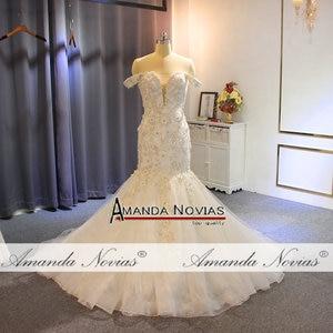 Image 3 - Off the shoulder straps africa mermaid wedding dress bridal dress fishtail
