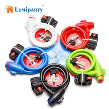 LumiParty Wholesale Universal Bike Lock MTB Mountain Bicycle Lock Anti-theft Ring Wire Rope Lock Free Shipping candado bicicleta