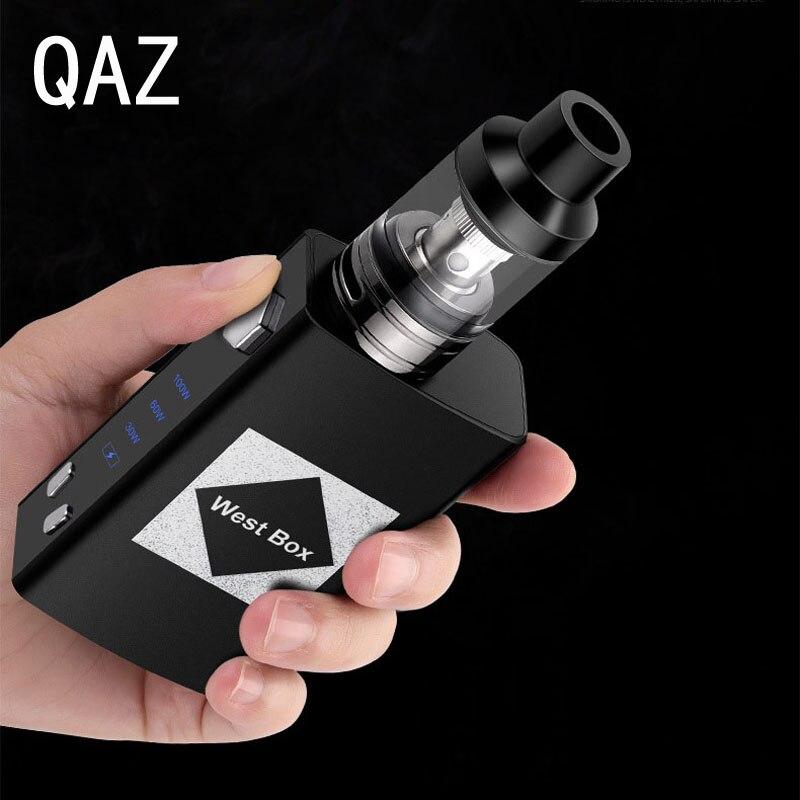 QAZ New 100w Liquid Vape Pen Box Mod Kit Electronic Cigarette Vaporizer 2ml Built-in Battery 1800mah E Cigarettes Hookah Vaper