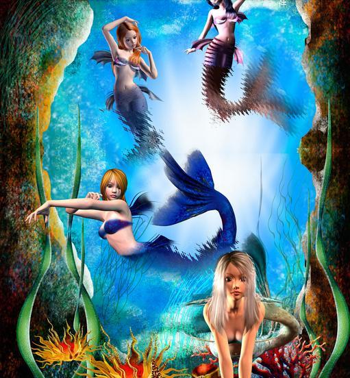 Popular Mermaid Murals-Buy Cheap Mermaid Murals lots from China Mermaid Murals suppliers on