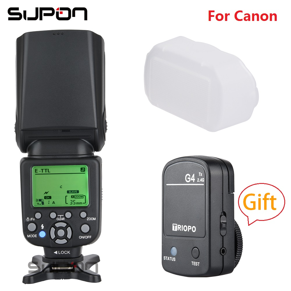 New Triopo TR 982C III TTL Speedlite On Camera Flash GN58 With LCD TX G4 2