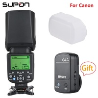 New Triopo TR 982C III TTL Speedlite On camera Flash GN58 with LCD+TX G4 2.4G For Canon EOS 5D Mark ii iii 6D 7D 60D 70D 60