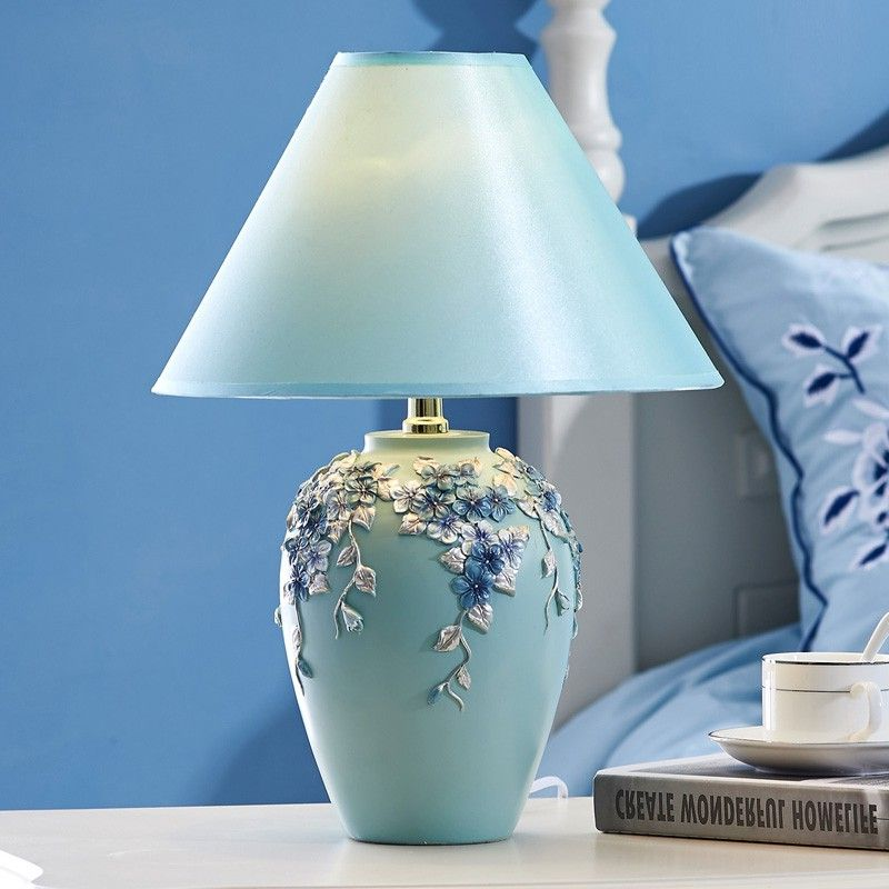 LED table lamp creative European bedroom bedside lamp simple warm and lovely living room study decoration CL FG334 tiffany european creative table lights countryside bedroom bedside study room living room cafe bar hotel wedding table lamps
