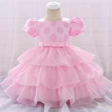 2019 Summer Baby Girl Clothes Christening Dress For Baby Girl Clothing Kids 1st Birthday Party Wedding Princess Dress 3 9 Months(China)