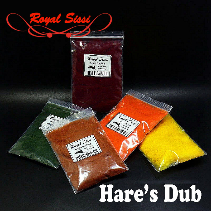 Royal Sissi 15 optional colors fly tying hare's dub genuine soft rabbit hair fiber little guard hairs spiky body tying materials