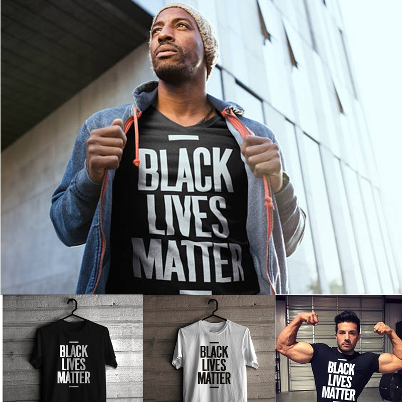 HTB1H44.OAvoK1RjSZFNq6AxMVXad - Showtly Black Lives Matter Men's T Shirt BLM Tee Tops Activist Movement Clothing Casual Cotton Short Sleeve