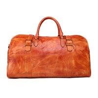 Модные большие сумки из натуральной воловьей кожи для женщин и мужчин, дорожные сумки, водонепроницаемые сумки для путешествий, сумки на пл