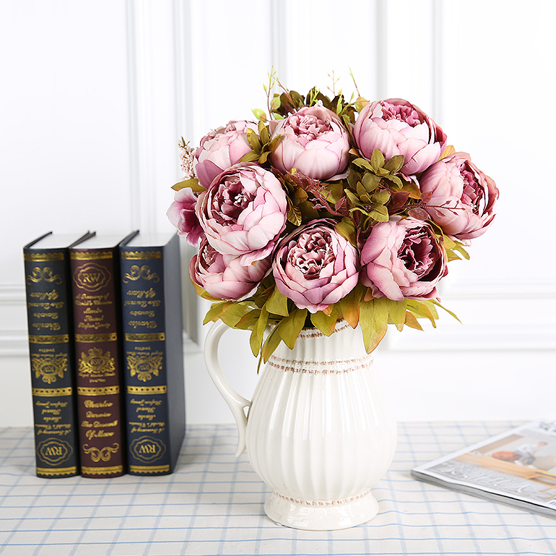 13 heads artificial fake flowers peony vintage color silk flowers 13 heads artificial fake flowers peony vintage color silk flowers peonies artificial flower for wedding decoration fleur 0523 in artificial dried flowers mightylinksfo