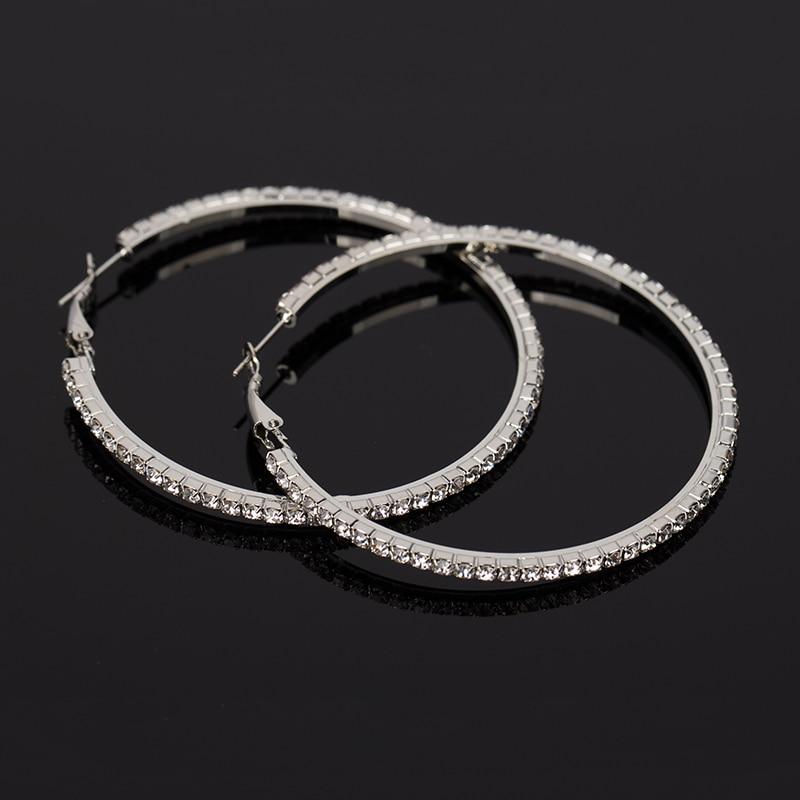 Earrings earring rhinestone fashion casual jewelry accessories belt hoop earrings for women #E134