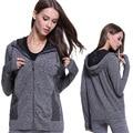 New winter coat fitness  Yuga Hoodie long sleeved casual jacket warm wholesale  WT1004