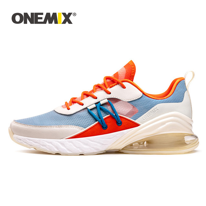 ONEMIX Sneakers 2019 Men Running Shoes Comfortable Air Cushion Footwear Unisex Outdoor Athletic Trainers Flat Male