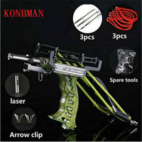 Powerful elastic hunting fishing slingshot bow and arrow rest bow laser slingshot shooter bolt shooting fish 2019 new