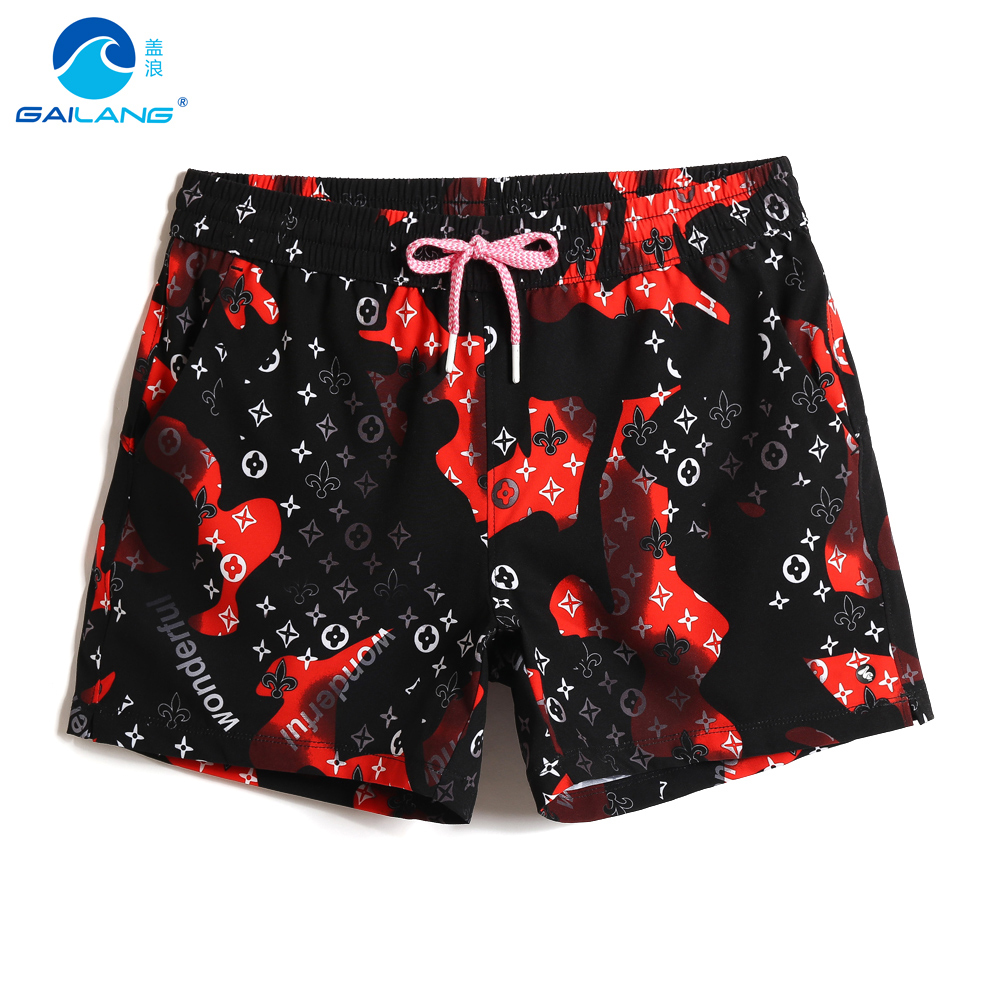Women's   board     shorts   bathing suit quick dry surfing sexy swimming trunks hawaiian joggers plavky printed breathable mesh