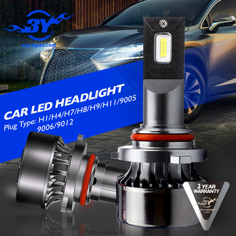 2Pcs H4 LED H7 H11 H8 9006 HB4 H1 H3 HB3 H9 H27 Car Headlight Bulbs LED Lamp with Philips Chip 8000LM AutoFog Lights 6000K 12V 2pcs car led headlight kit h7 h4 h1 9006 9005 h11 200w 6000k 8000lm bright led headlight bulbs xnc
