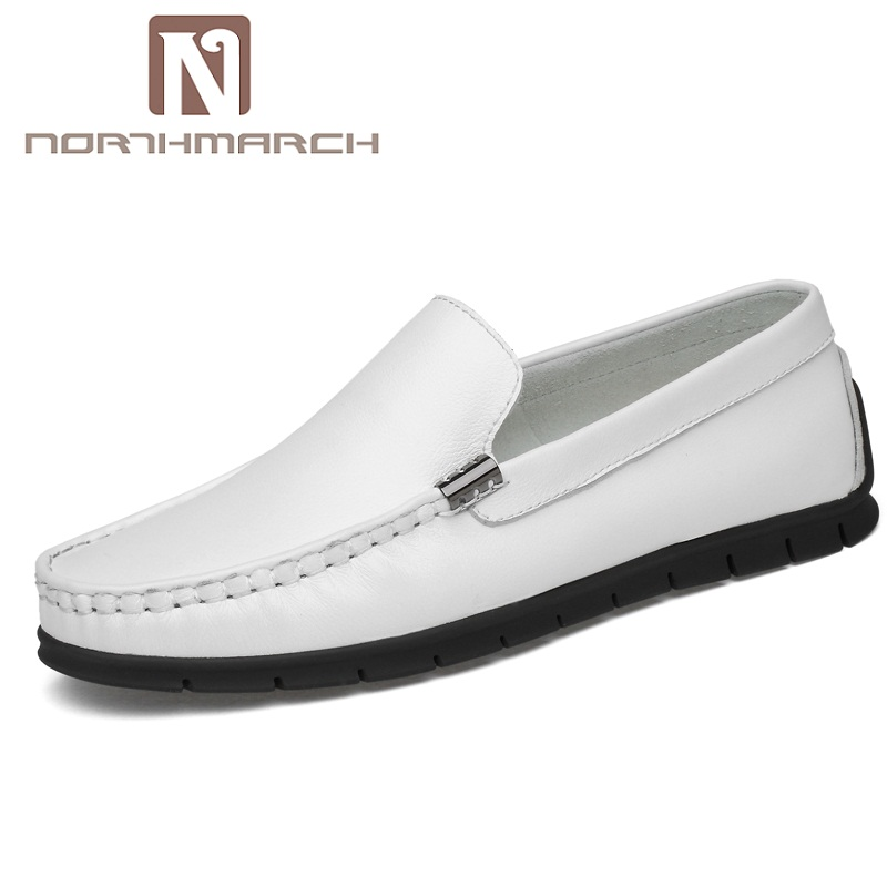 NORTHMARCH Men Loafers Genuine Leather Men Shoes Fashion Slip On Shoes Men Breathable Driving Shoes Mens Zapatos Hombre Casual slip on men s shoes loafers casual driving shoes men leather mens flats sole breathable boat shoes male moccasins zapatos hombre