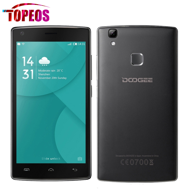 """Original doogee x5 max pro 4g lte teléfono móvil 5.0 """"pulgadas MTK6737 Quad Core 2 GB RAM 16 GB ROM 4000 mAh Android 6.0 HD Huella Digital"""