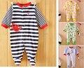 De alta qualidade da roupa Do Bebê macacão de algodão de manga longa pijamas do bebê outono meninos meninas roupas de bebê roupas íntimas