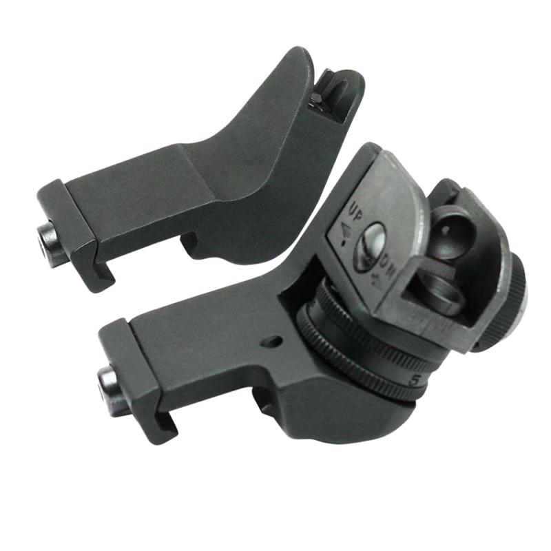 AR15 AR 15 AR-Anteriore Posteriore Vista 45 Gradi Rapida Transizione Backup Ferro Offset Sight Rapid Mirino per Fucile Nuovo 2018