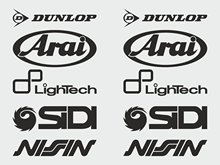 For 1Set Arai, , lightech, Sidi, Nifin stickers sponsor decal (160 mm each) Car Styling(China)