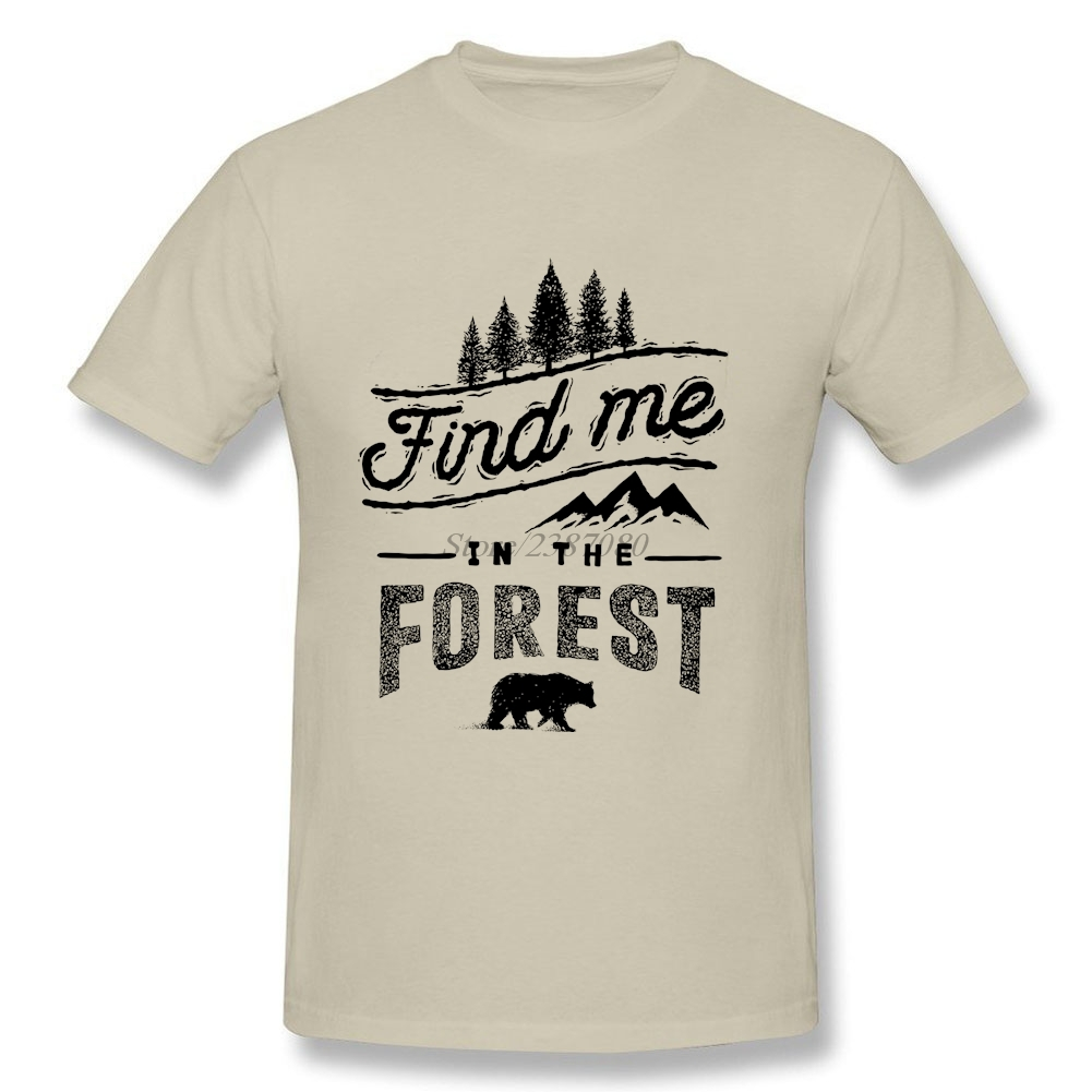2017 New T Shirt Forest Bear T-shirts Car Styling Cotton 3XL Short Sleeve  Funny T Shirts