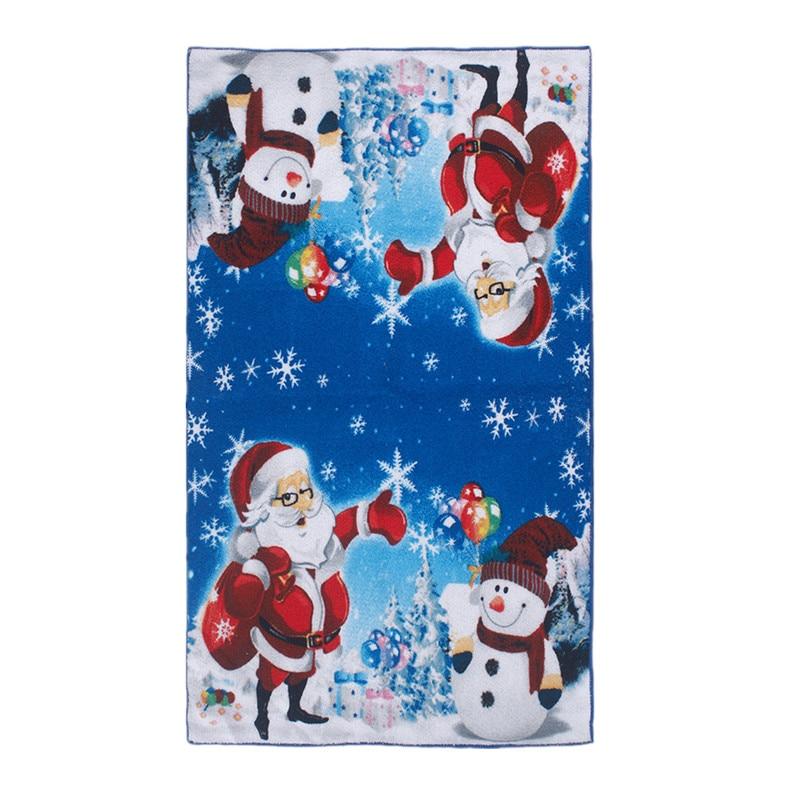 38x64cm Microfibre Towel Santa Claus Tea Towel Water Absorption Table Cloth Christmas Towel Soft Hand Towel