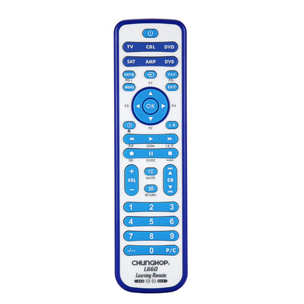 CHUNGHOP copy Combinational Universal Learning Remote Control For TV/SAT/DVD/CBL/DVB-T/AUX 3D SMART TV CE 1PCS L660 copy 1pcs chunghop rm l987e tv sat dvd cbl cd ac vcr smart tv 3d universal remote control learning equipment with lcd display