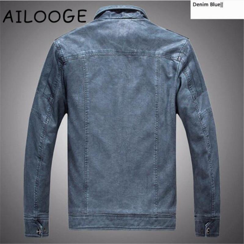 Black Moto Outwear De Hiver À Blue Manteaux En Plus khaki Haute Veste Pu denim Qualité Cuir Vestes Taille Fourrure Mâle L'intérieur La Hommes 6HHF8fq