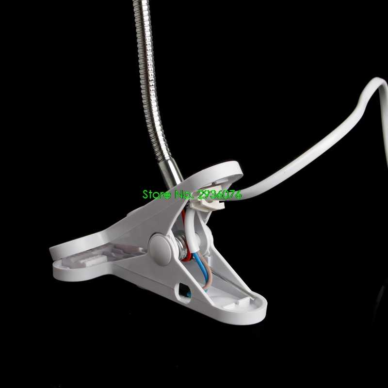 2018 Новый E27 50 см AC 85-265 в гибкий зажим переключатель светодиодный держатель лампы разъем кабель питания Поддержка