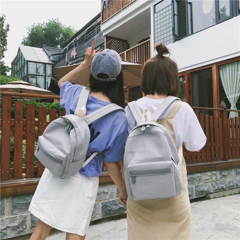 HTB1H45rXInrK1RjSspkq6yuvXXaK 2019 Women Canvas Backpacks Ladies Shoulder School Bag Backpack Rucksack for Girls Travel Fashion Bag Bolsas Mochilas Sac A Dos