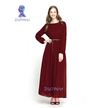 10015Muslim abaya dress islamic clothes for women hijab dubai jibabs kaftan fashion chiffon abaya casual belt long dresses 10015