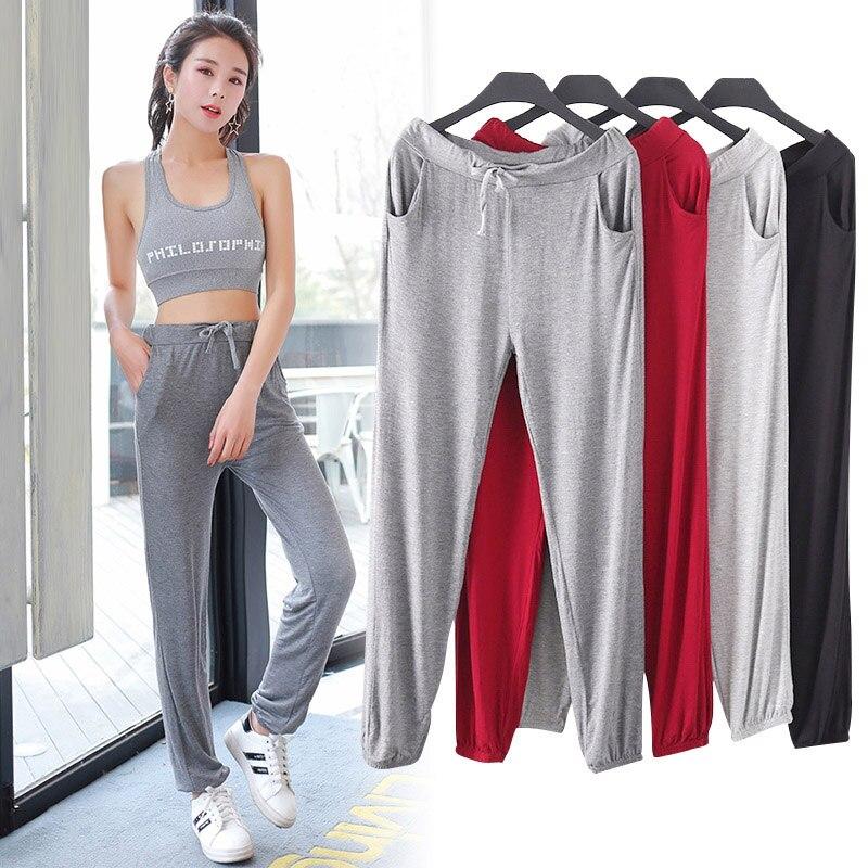 Modal Spring Summer Large Size Casual Pants Thin Harem Women Long Pants Sports Pants Female Soft Pants LJ2232