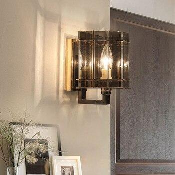 New Postmodern Black Crystal Wall Lamp Art Romantic Hotel Room Villa Hall Wall Sconce Aisle Kitchen Led Light  Free Shipping