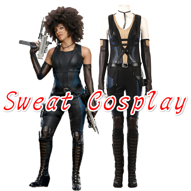 High Quality Deadpool 2 Domino Cosplay Costume Halloween Cosplay Superhero Costume Sexy Jumpsuit Domino Costume suit  sc 1 st  AliExpress.com & High Quality Deadpool 2 Domino Cosplay Costume Halloween Cosplay ...