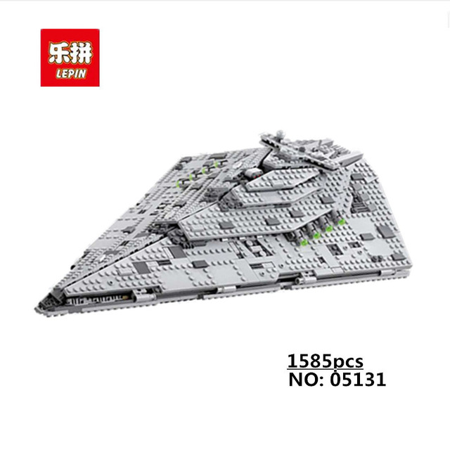 New Lepin 05131 1585pcs Star Plan Series The First order Star Model Destroyer Set 75190 Building Blocks Bricks Toy for Kids Gift new order new order the best of