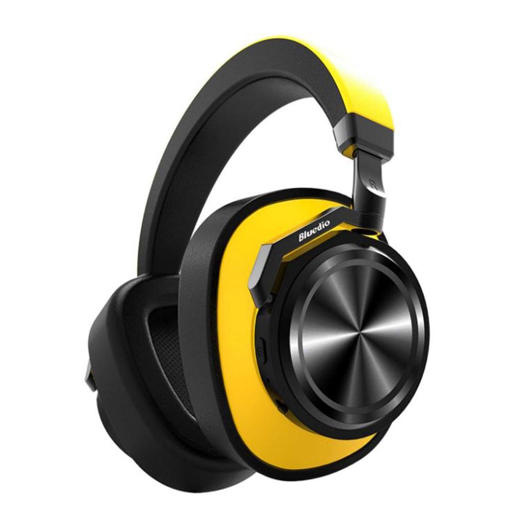 Casque Bluetooth Bluedio casque anti-bruit actif casque sans fil jaune sur l'oreille casque Bluetooth - 5