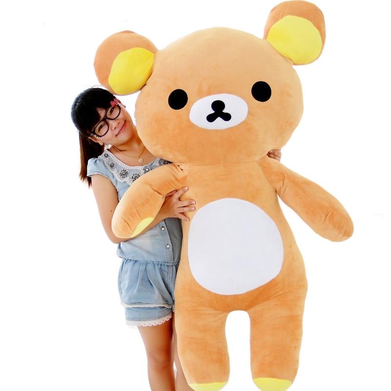 Brown Large Rilakkuma Relax Bear Plush Toy Doll Best giant Xmas kids gift 80cm