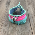 2016 Women Bohemian Retro Vintage Tibet Silver Bracelet bull Turquoise Charm Bracelets Bangles Boho Jewelry