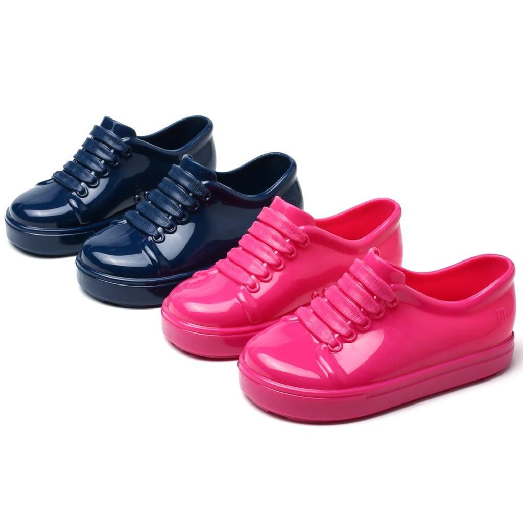 Mini Melissa No Shoelace Shoes 2018 Nowe zimowe płaskie sandały na - Obuwie dziecięce - Zdjęcie 1