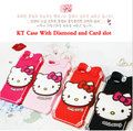 2016 mais novo 3d bonito encantador silicone hello kitty case capa com diamante para iphone 6 6 s 6g 6 + plus iphone6