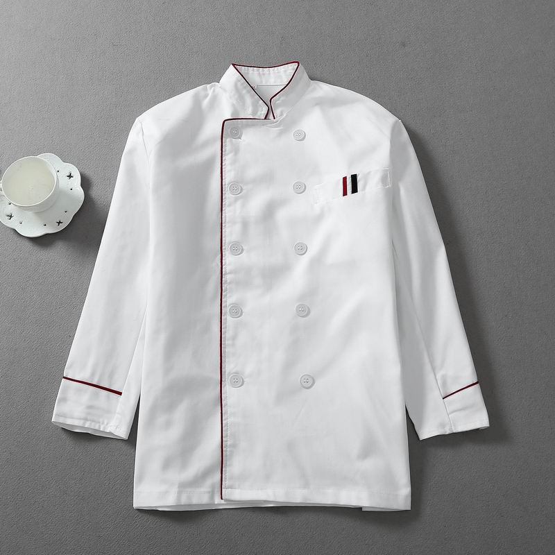 Us 12 9 Autumn Winter Food Service Cloth Kitchen Chef Jackets Uniform Long Sleeve Hotel Cook Workwear Clothes Restaurant Chief Clothes In Chef