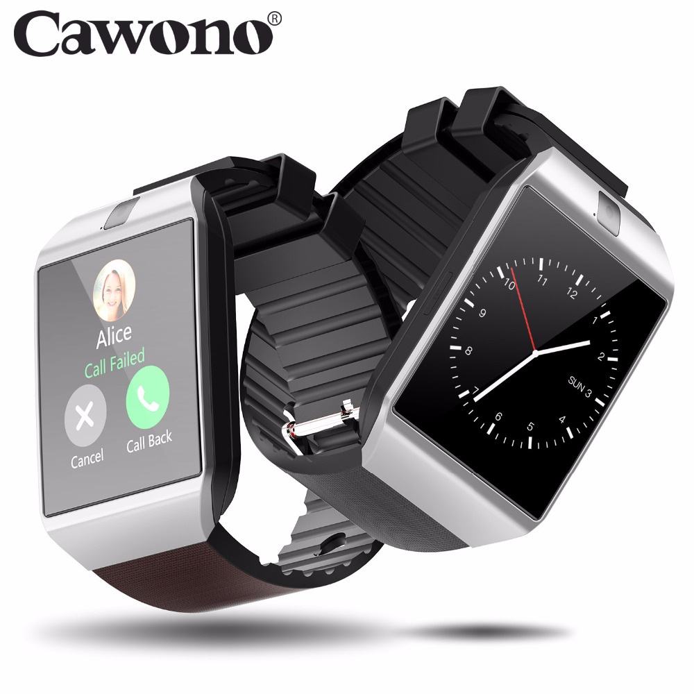 Cawono Bluetooth Smart Watch in DZ09 Smartwatch Android Chiamata di Telefono Relogio 2g GSM SIM Carta di TF Della Macchina Fotografica per il iphone Android VS A1 GT08