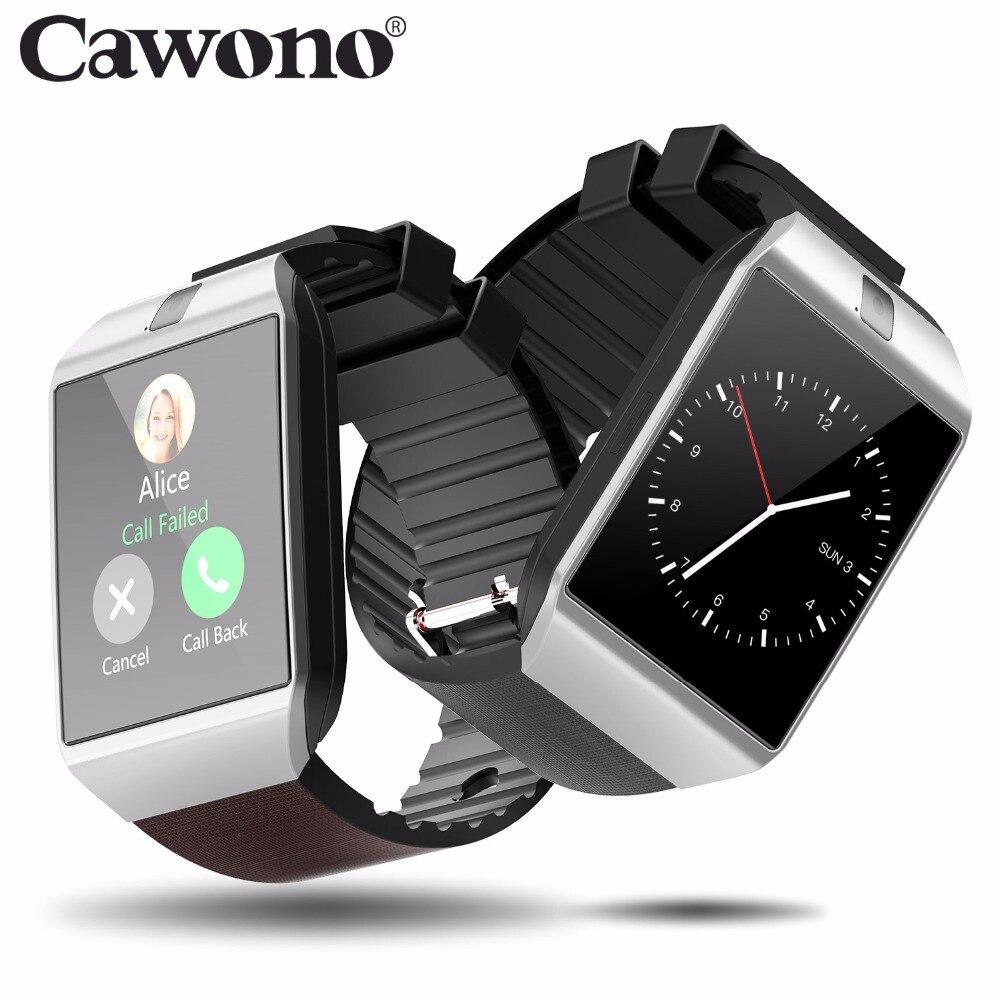 Cawono Bluetooth montre intelligente Smartwatch DZ09 appel téléphonique Android Relogio 2G GSM SIM TF carte caméra pour iPhone Android VS A1 GT08